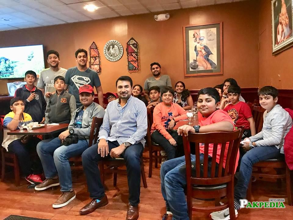Indian youth at restaurant