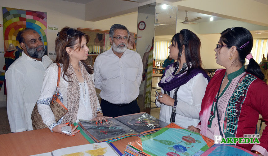 On visit to a school exhibition