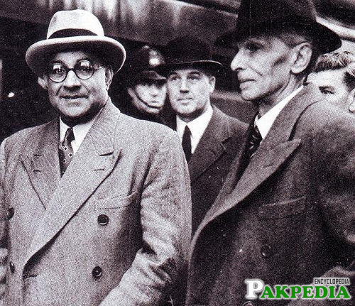 Jinnah with Liaquat Ali Khan