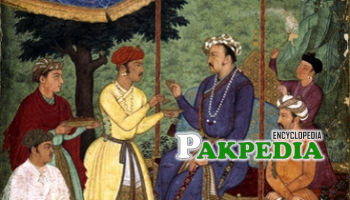 Akbar with his sons