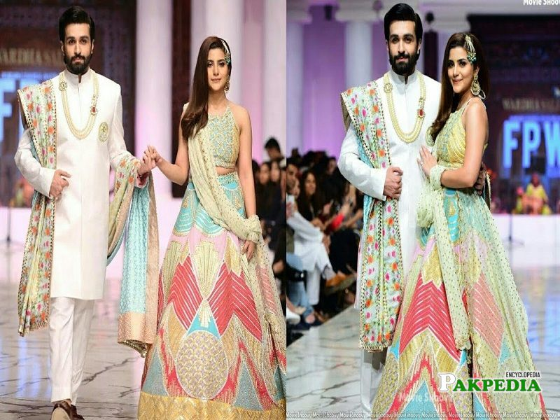 Azfar Rehman Walked on ramp with Sohai