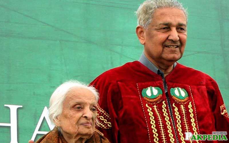 Fatima Surayya Bajia with Dr A Q Khan