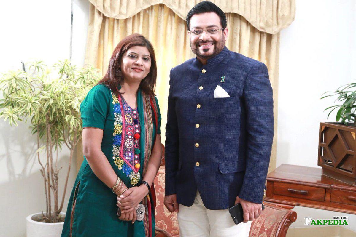 With Aamir Liaquat