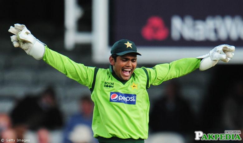Kamran Akmal Celebrate wicket