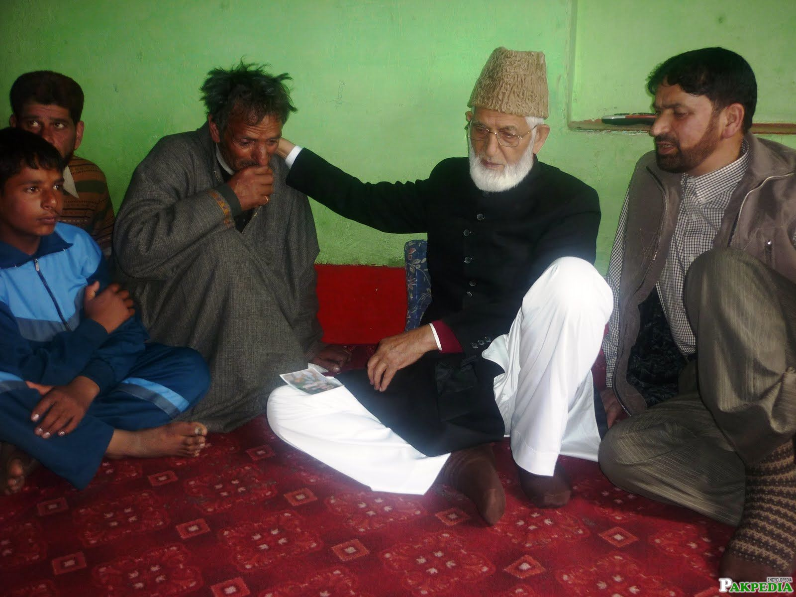 Chairman Syed Ali Shah Geelani visted today the house of Mohammad Maqbool at Maloora.
