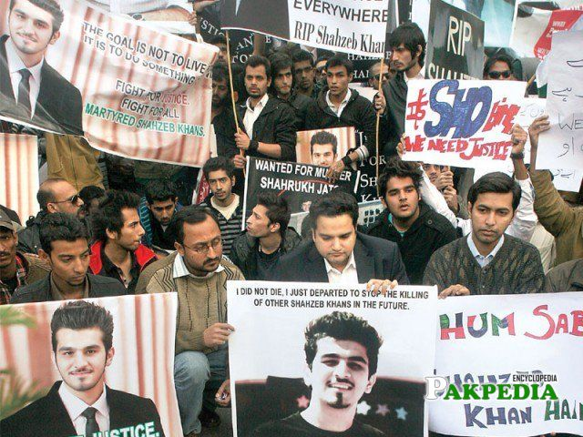 Public demanding for Shahzeb's justice
