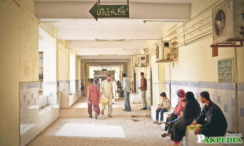 Patients on Monday wait in vain at the medical out-patient department of the Jinnah