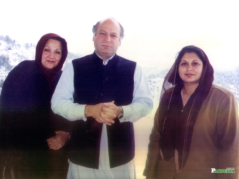 With Nawaz Shrif and His Mrs kalsoom Nawaz