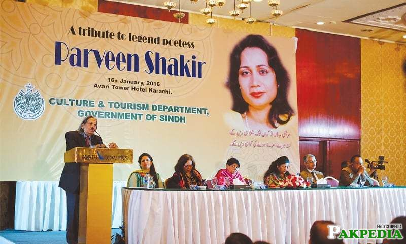 Tribute given to Parveen shakir