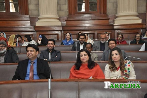 Asia Amjad in National Assembly with other MPS