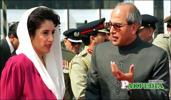 A Rare photo with Benazir