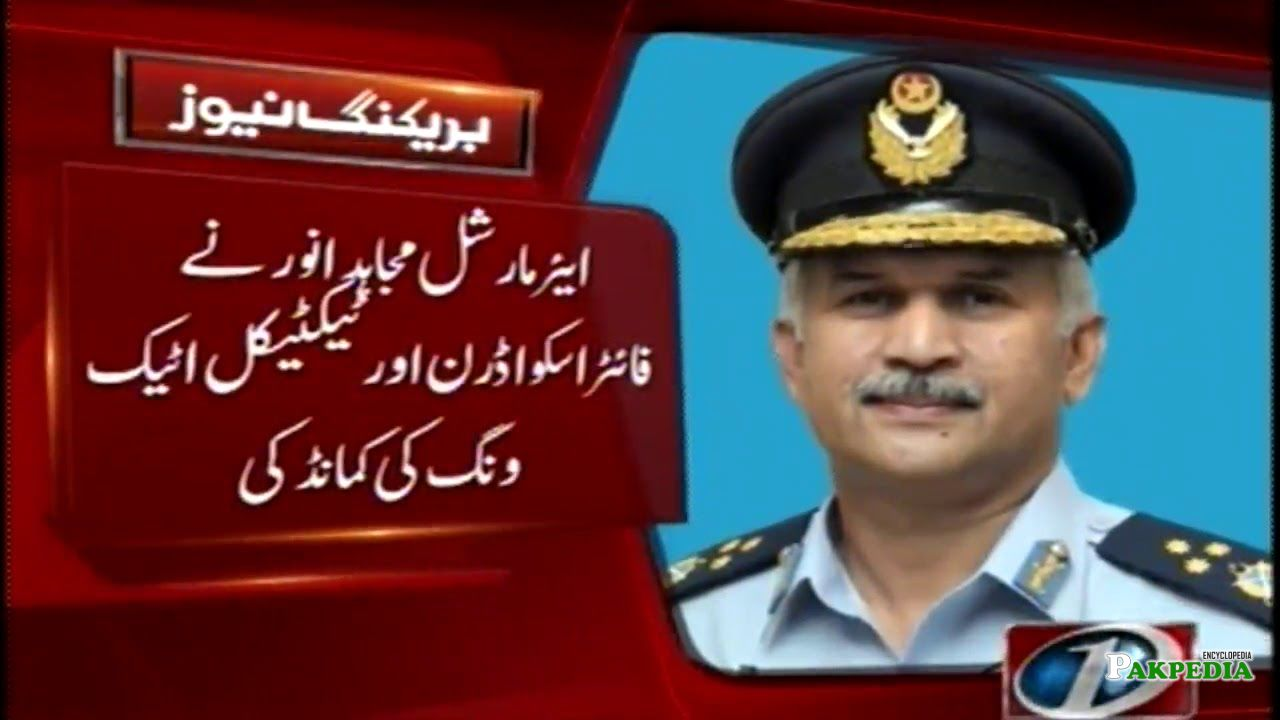 Took Over Command of the Pakistan Air Force