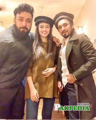 Uzair Jaswal with Sana Javed
