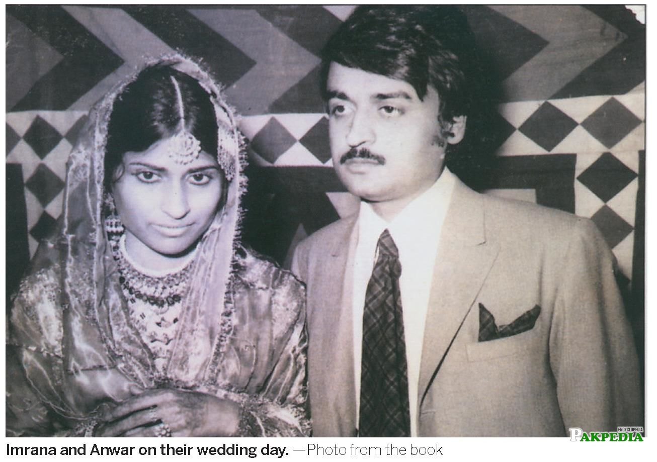 Anwar nd his wife on their Wedding