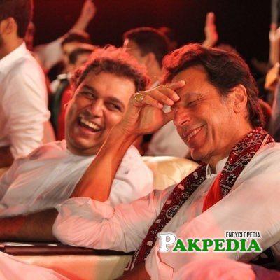 Ali Haider Zaidi with Imran khan