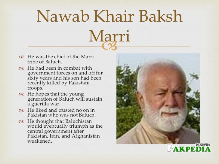 Biography of Nawab khair bakhsh