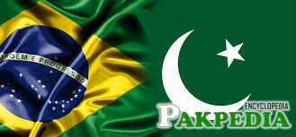 Flags of Brazil and Pakistan