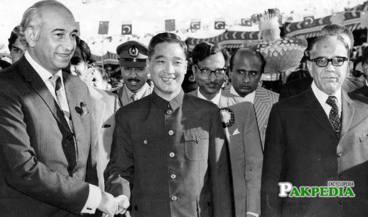 With Zulfiqar Ali Bhutto and Other Leader