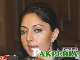 Sharmila Farooqi giving interview