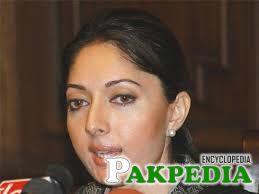 Sharmila Farooqi giving interview