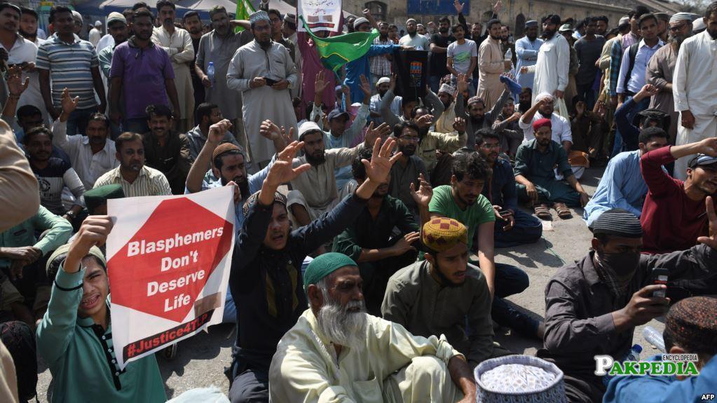 Protest against Asia bibi