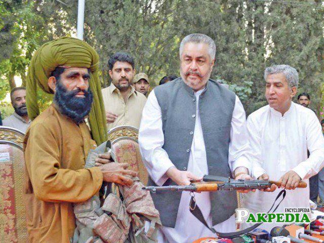 UBA commander Haji Kalati surrenders before Jangez Marri