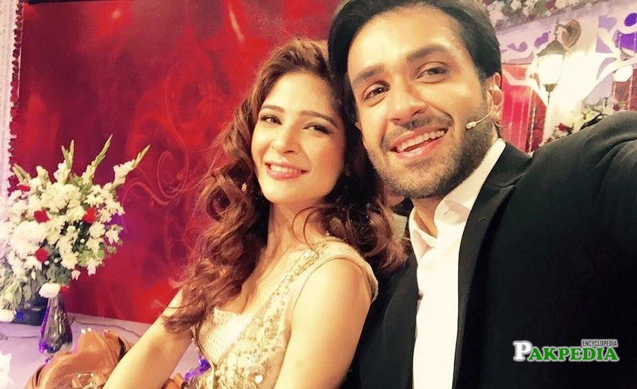 Azfar Rehman with Ayesha Omar