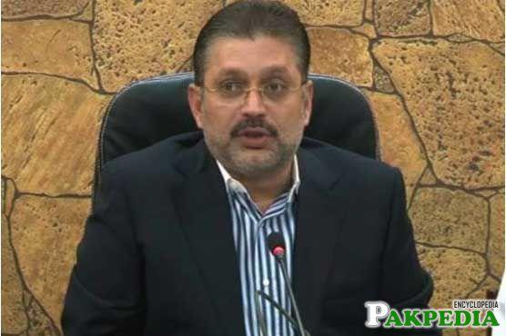 Sharjeel Memon in his office