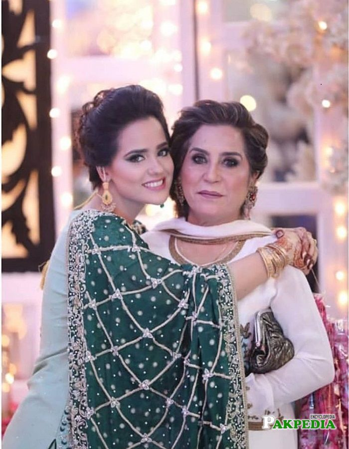 Rabya Kulsoom with her mother Parveen Akbar