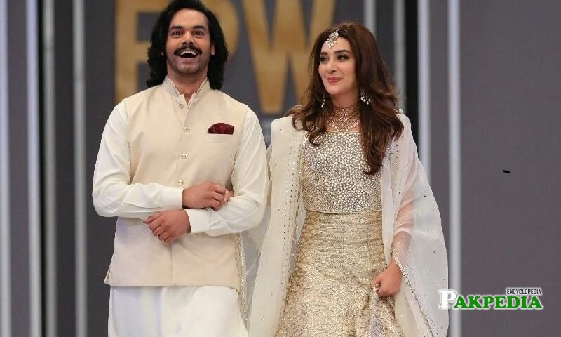 Ayesha walked the ramp with Gohar Rasheed