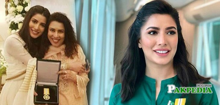 Mehwish Hayat after receiving 'Tamgha e Imtiaz'