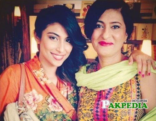 With her Mother Saba Hameed