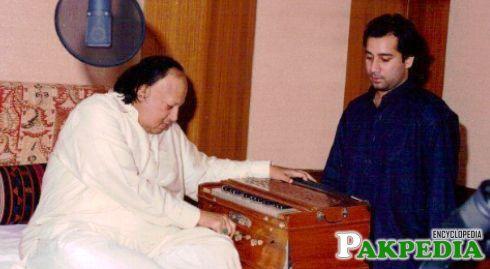 Nusrat Fateh Ali Khan with Rahat Fateh Ali Khan