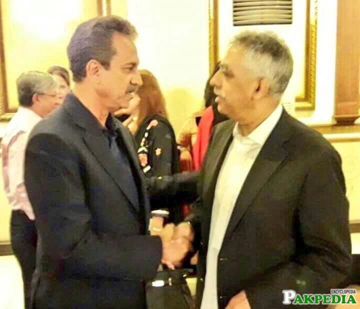 Zubair Umar with Mayor Karachi