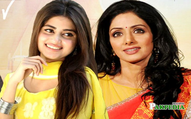 Sajal has also worked in Bollywood with Sri Devi