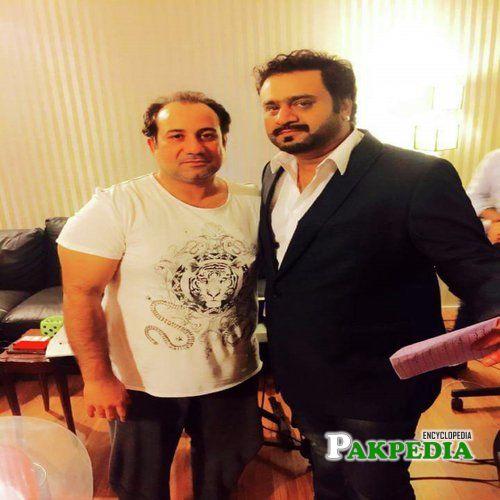Sahir Ali Bagga with the legend Rahat Fateh Ali Khan