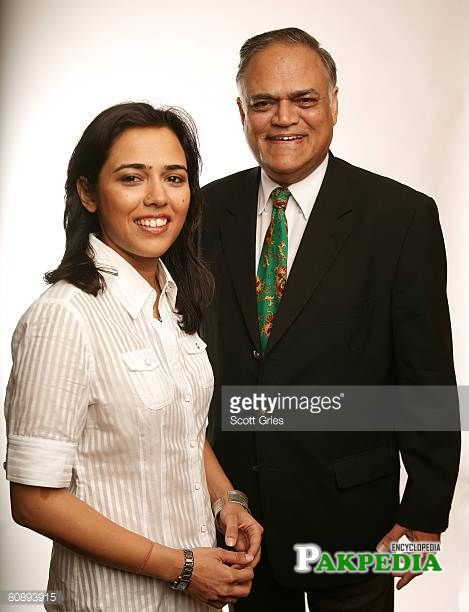 Mehreen and her father- Javed jabbar