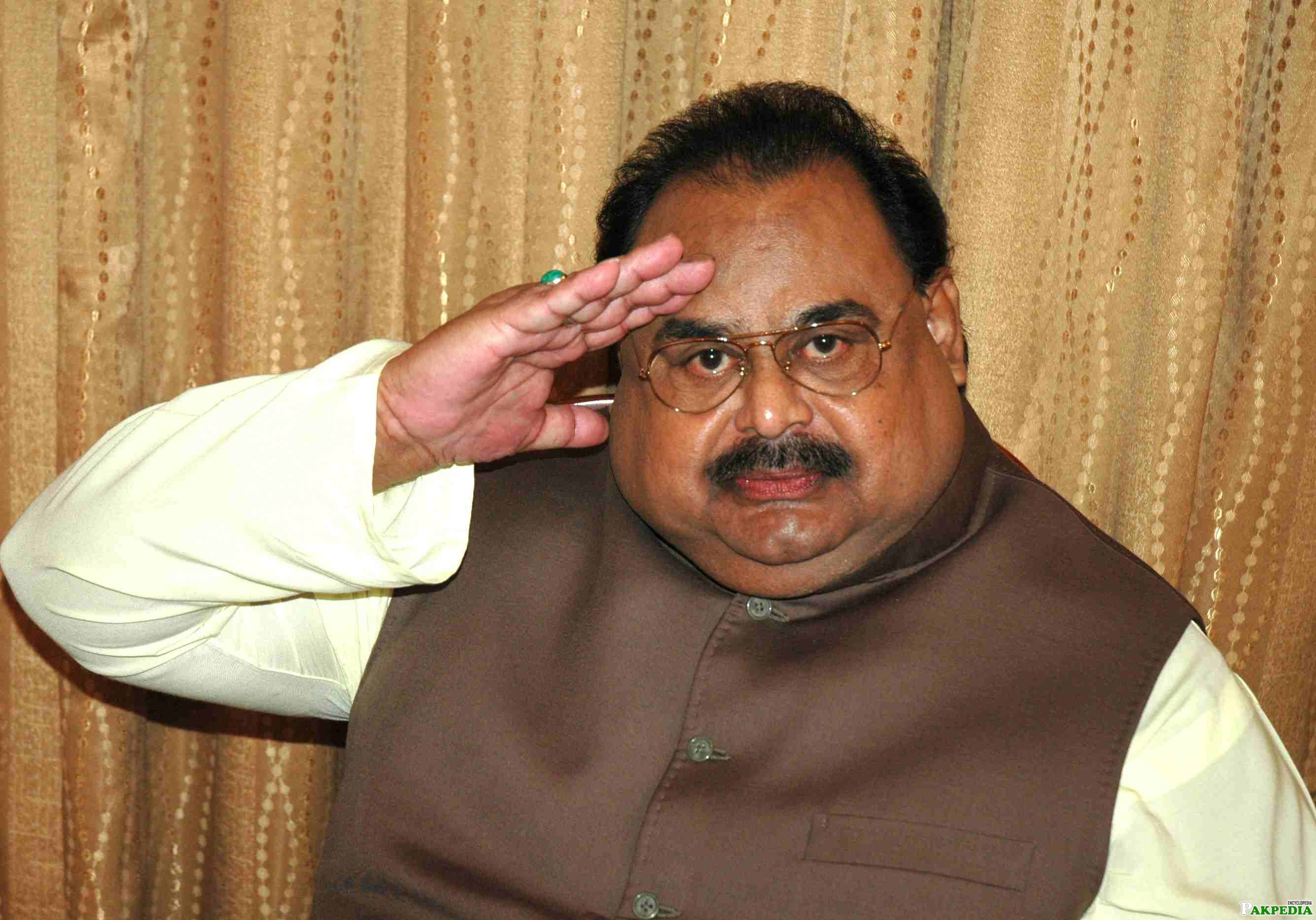 Leader of MQM Altaf Hussain