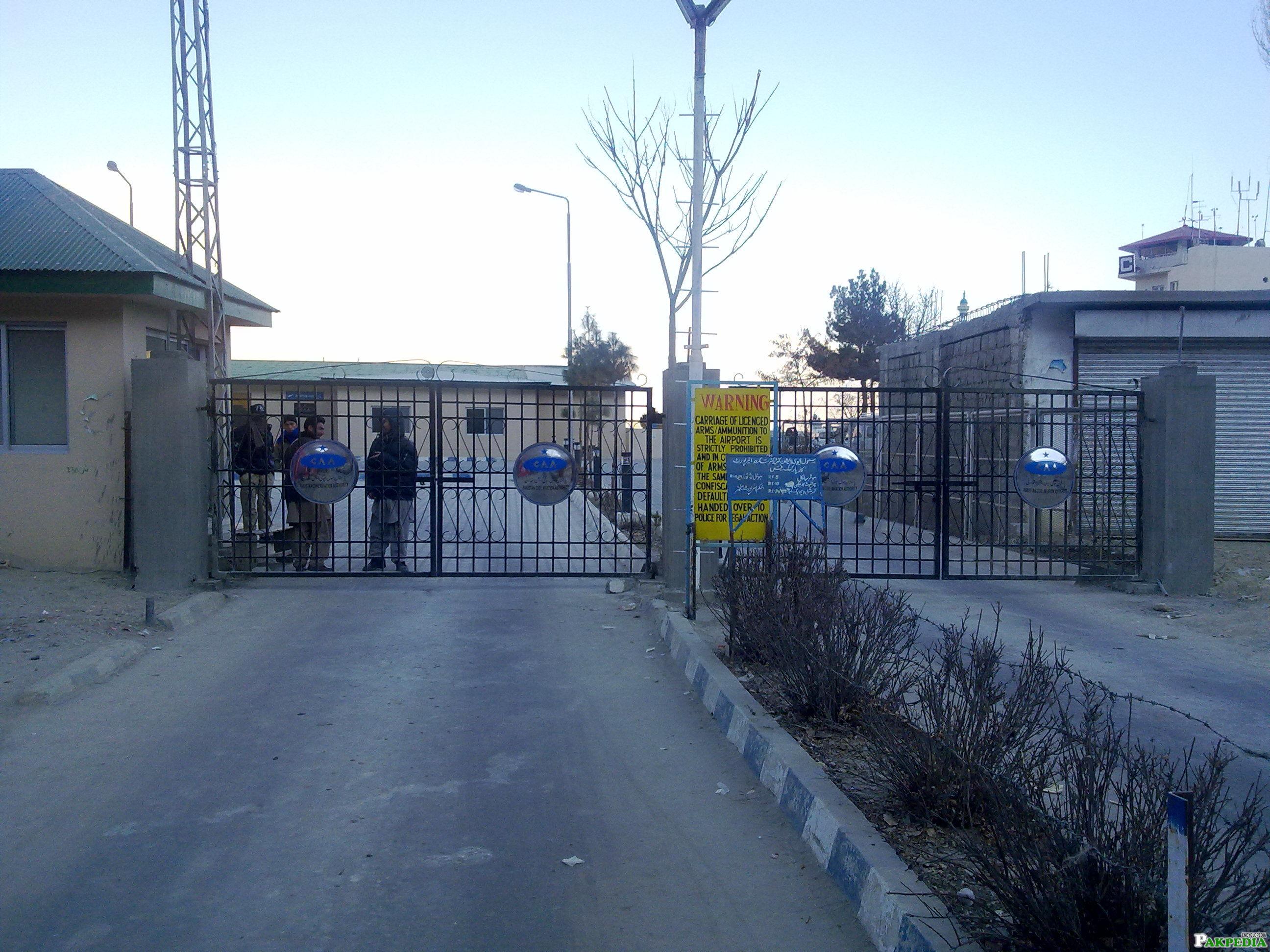 Skardu Airport main Gate