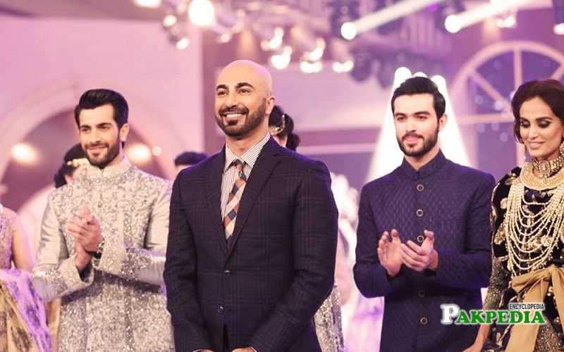 Jahan e Khald while walking the ramp for HSY