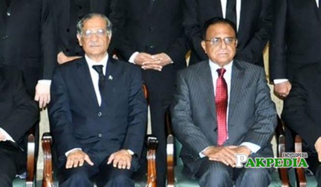 With Saqib Nisar