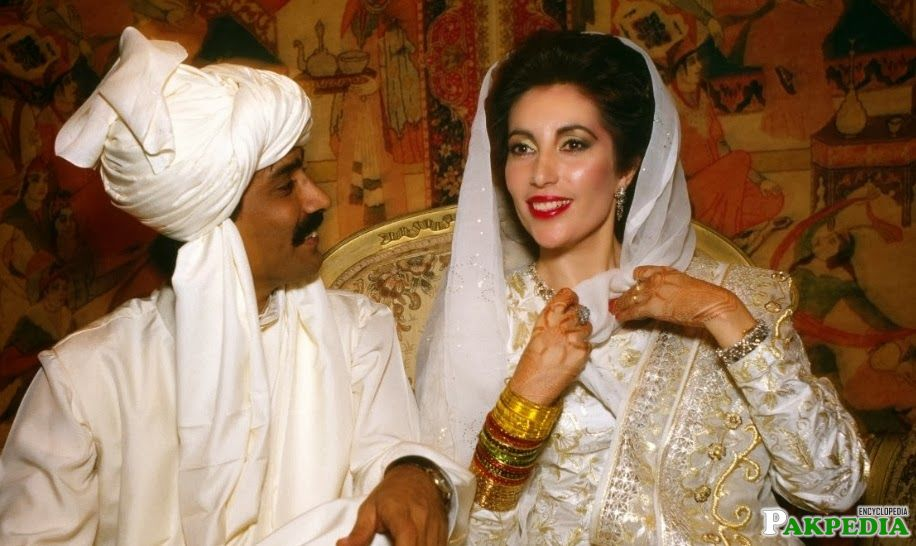 Benazir Bhutto Wedding Image