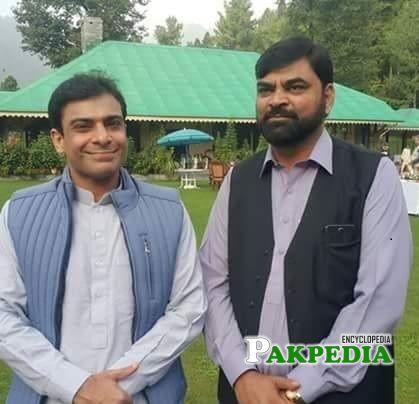 Malik Muhammad Waheed with Hamza Shahbaz