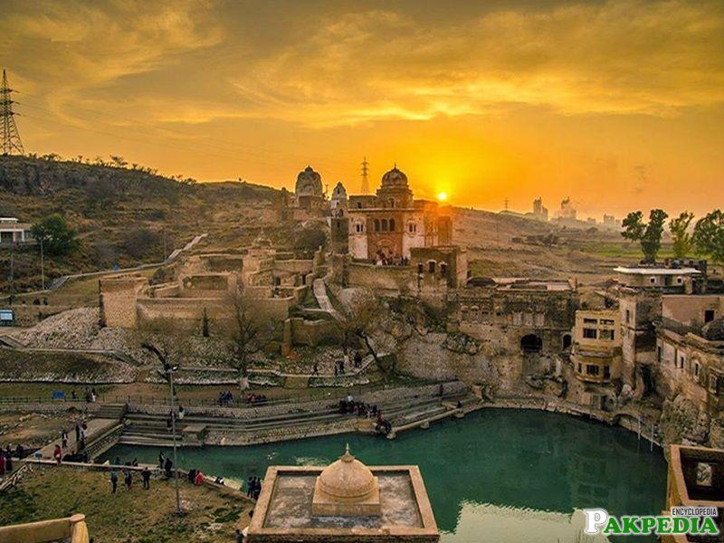 Sun Set In Katas Raj Temple