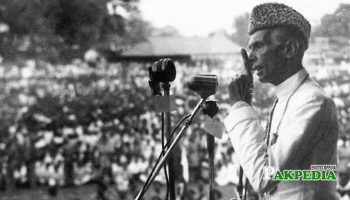 Quaid delivering speech on 23rd March