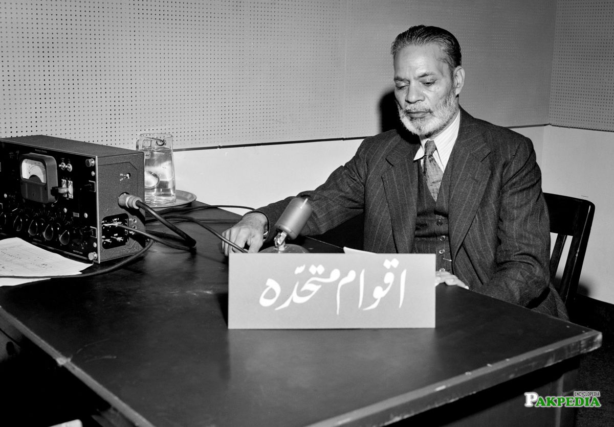 Sir Zafrullah Khan's Speech on the Question of Palestine