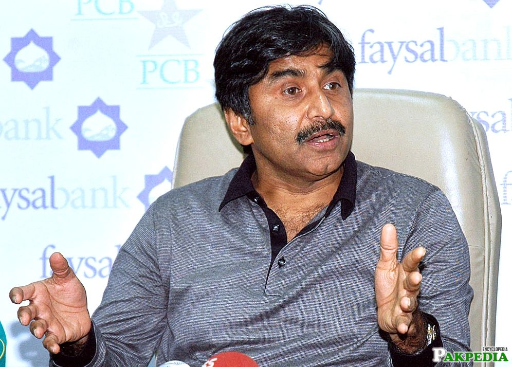 Javed Miandad in Conference