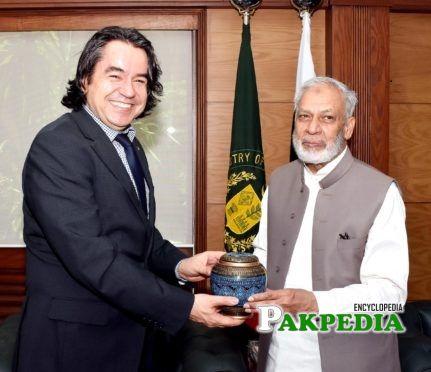 Usman Ibrahim with the Turkish Ambassador