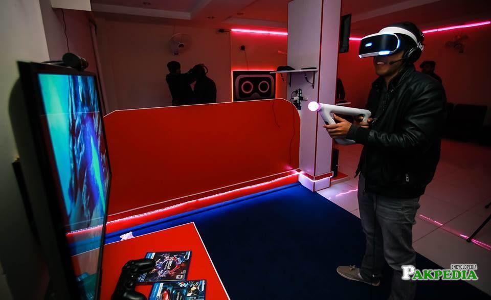 Gaming zone of VR Sensation