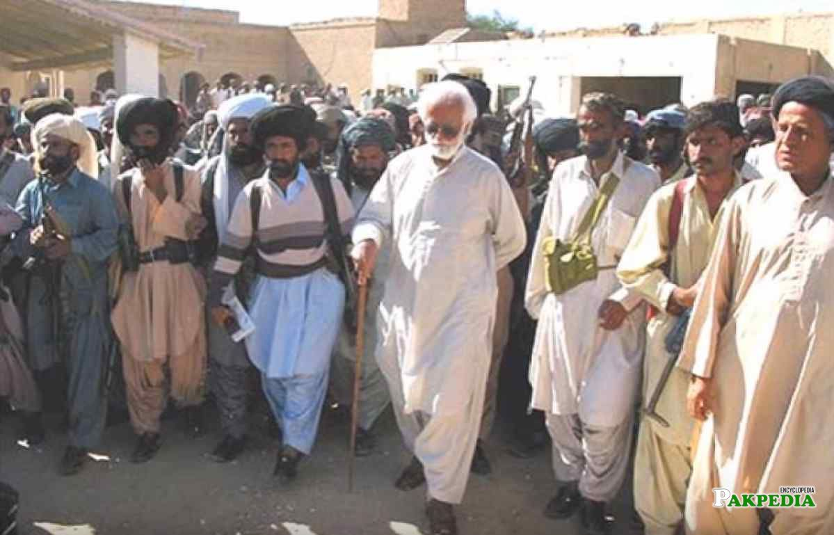 Akbar Bugti was a Trible Leader